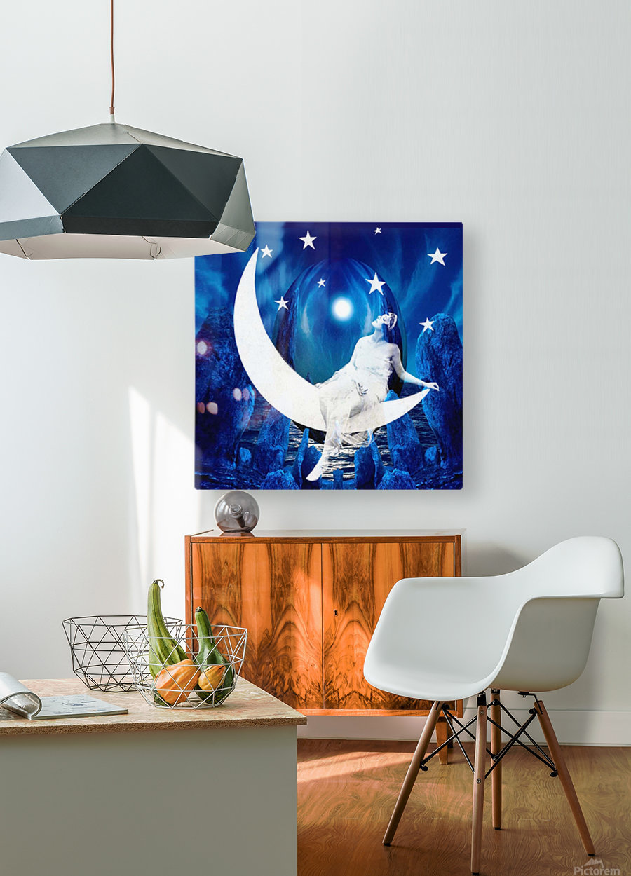 Starlight  HD Metal print with Floating Frame on Back
