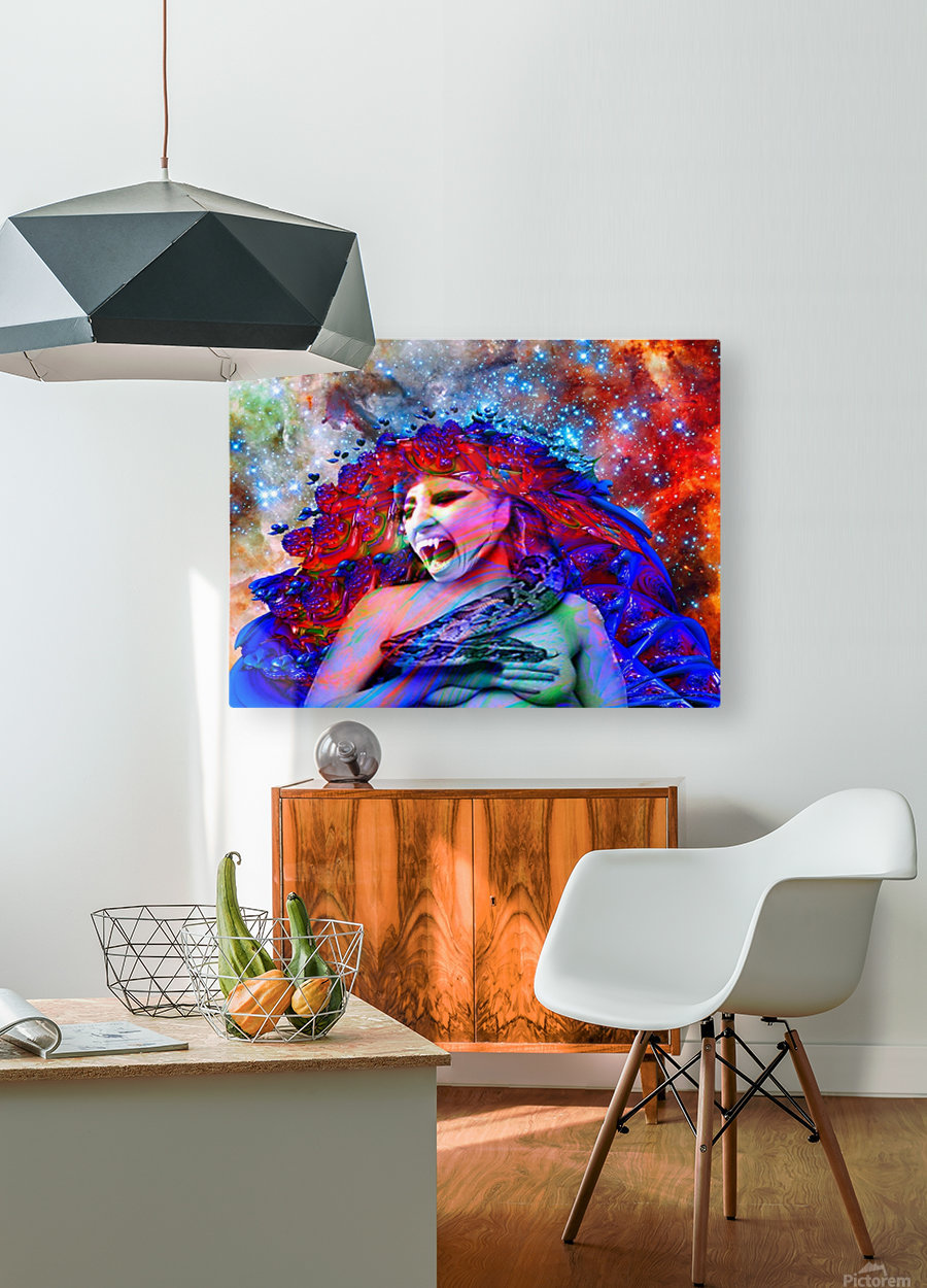 Space Vampire  HD Metal print with Floating Frame on Back