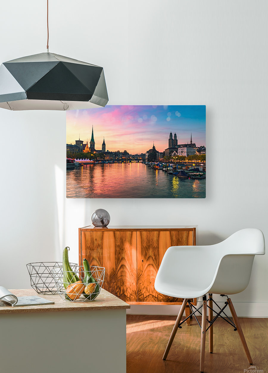 ZÜRICH 05  HD Metal print with Floating Frame on Back