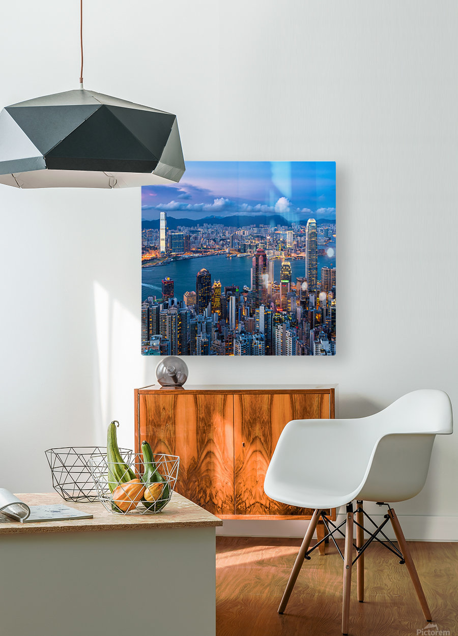 HONG KONG 31  HD Metal print with Floating Frame on Back