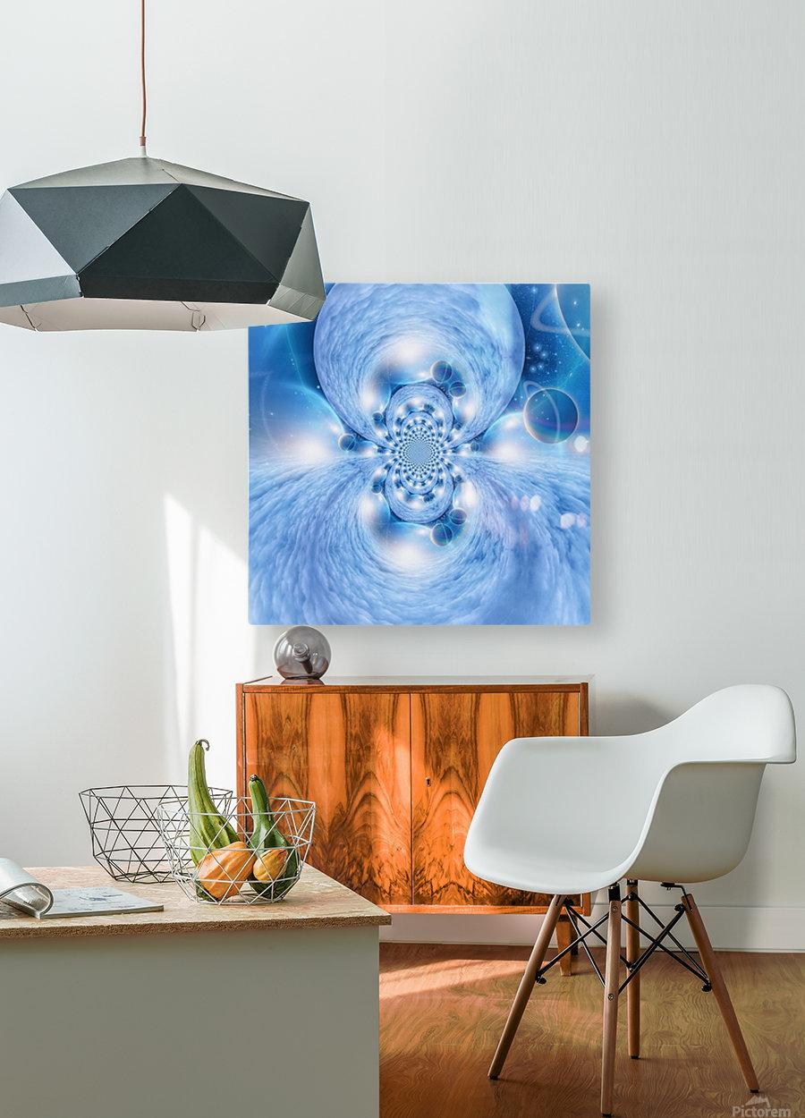 Planetarium Fractal  HD Metal print with Floating Frame on Back