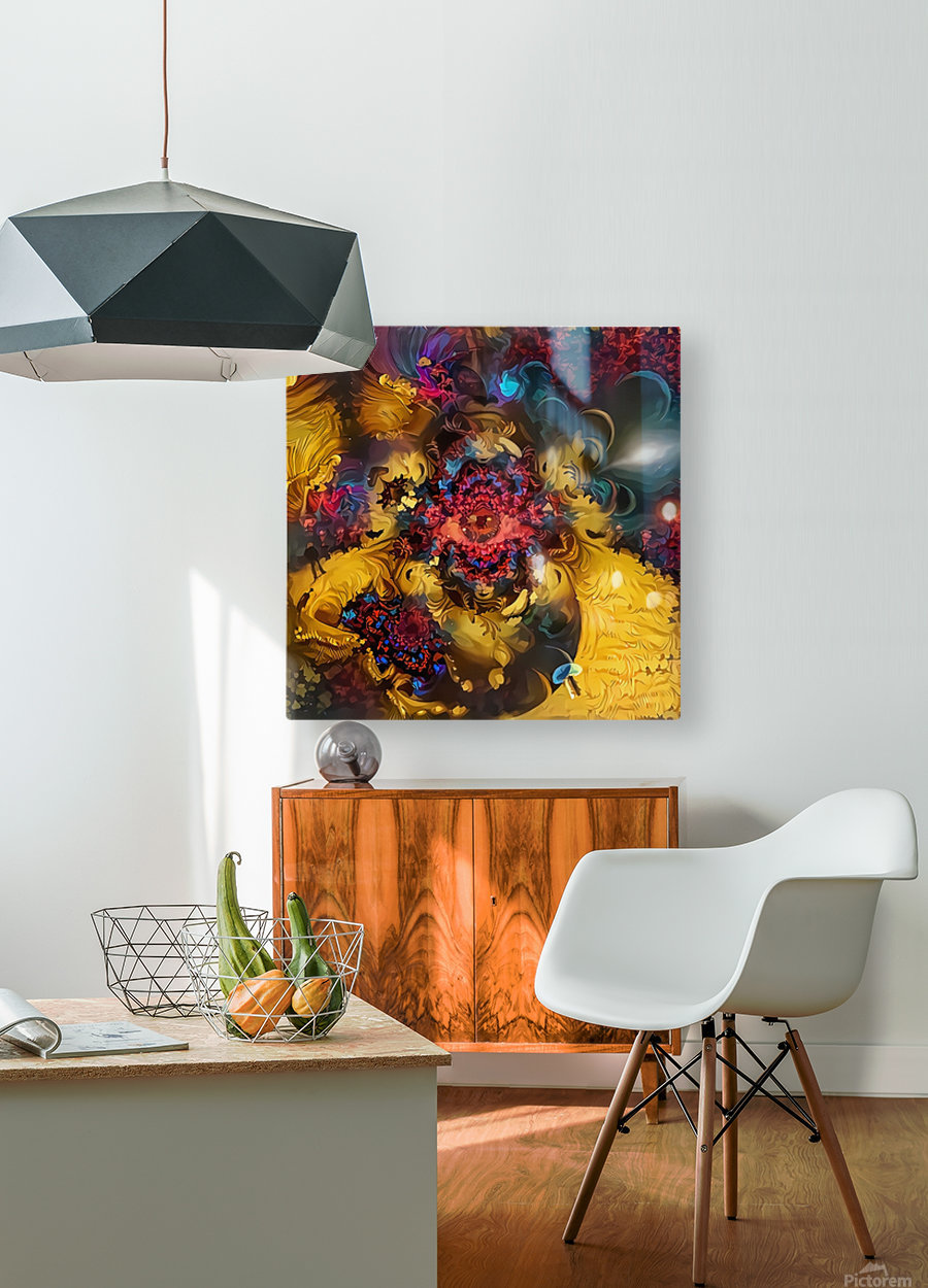 Colorful Fantasy  HD Metal print with Floating Frame on Back
