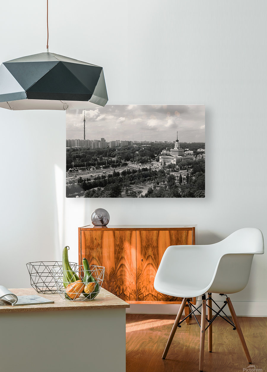 Moscow Air View I  HD Metal print with Floating Frame on Back