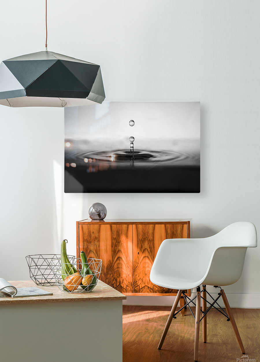 plop  HD Metal print with Floating Frame on Back