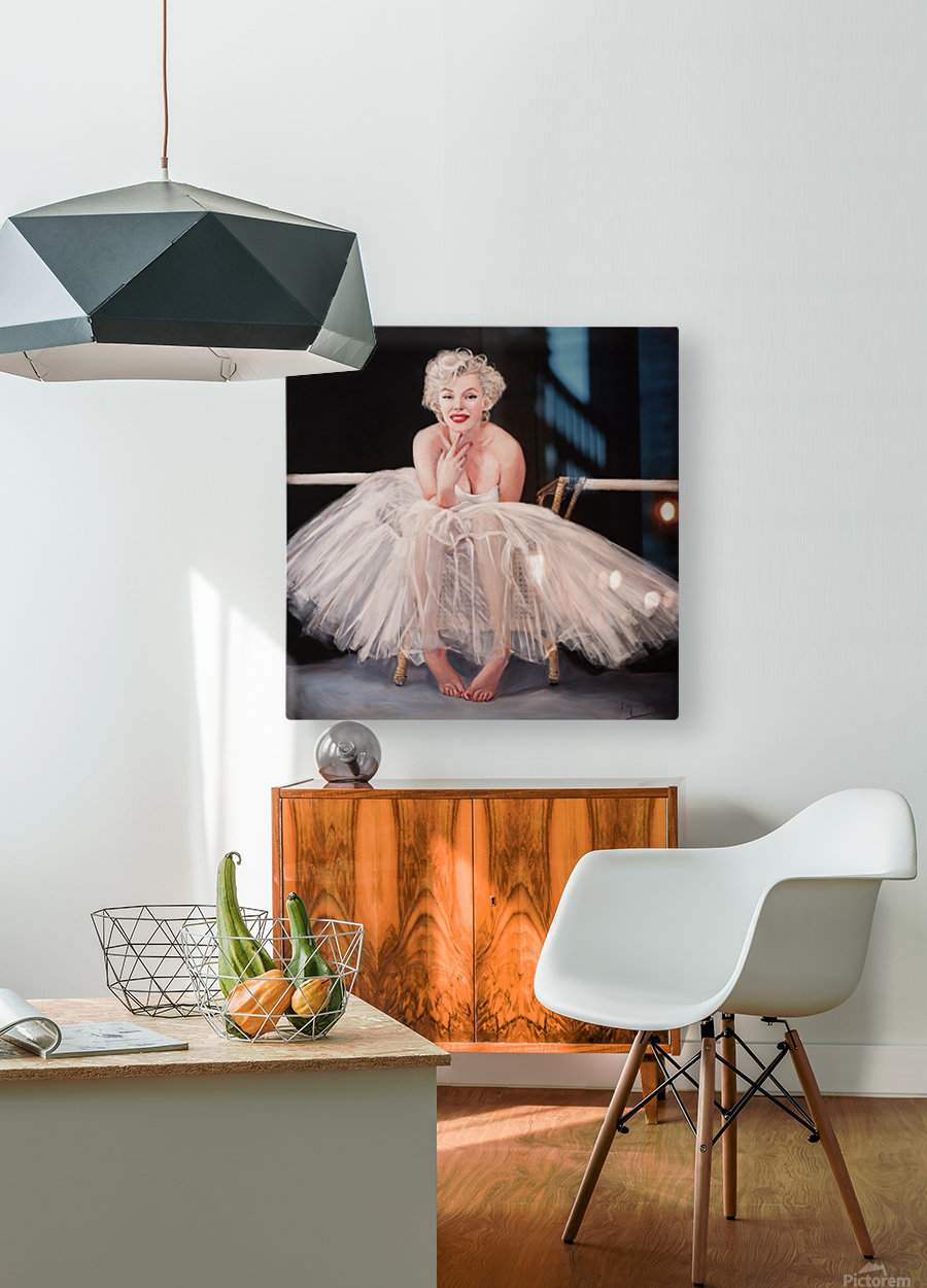 Marilyn ballerina sitting   HD Metal print with Floating Frame on Back