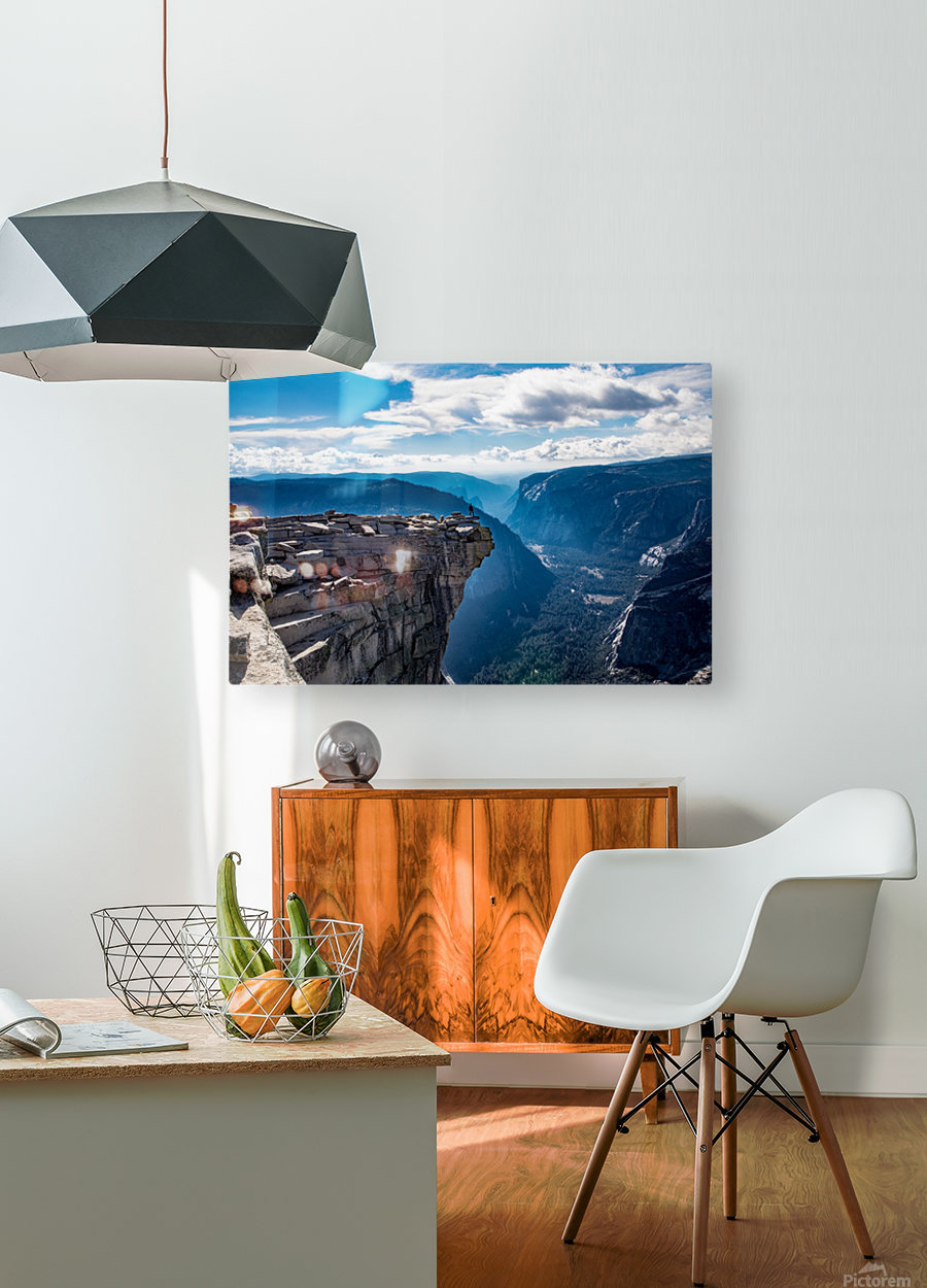 Top of Half Dome  HD Metal print with Floating Frame on Back
