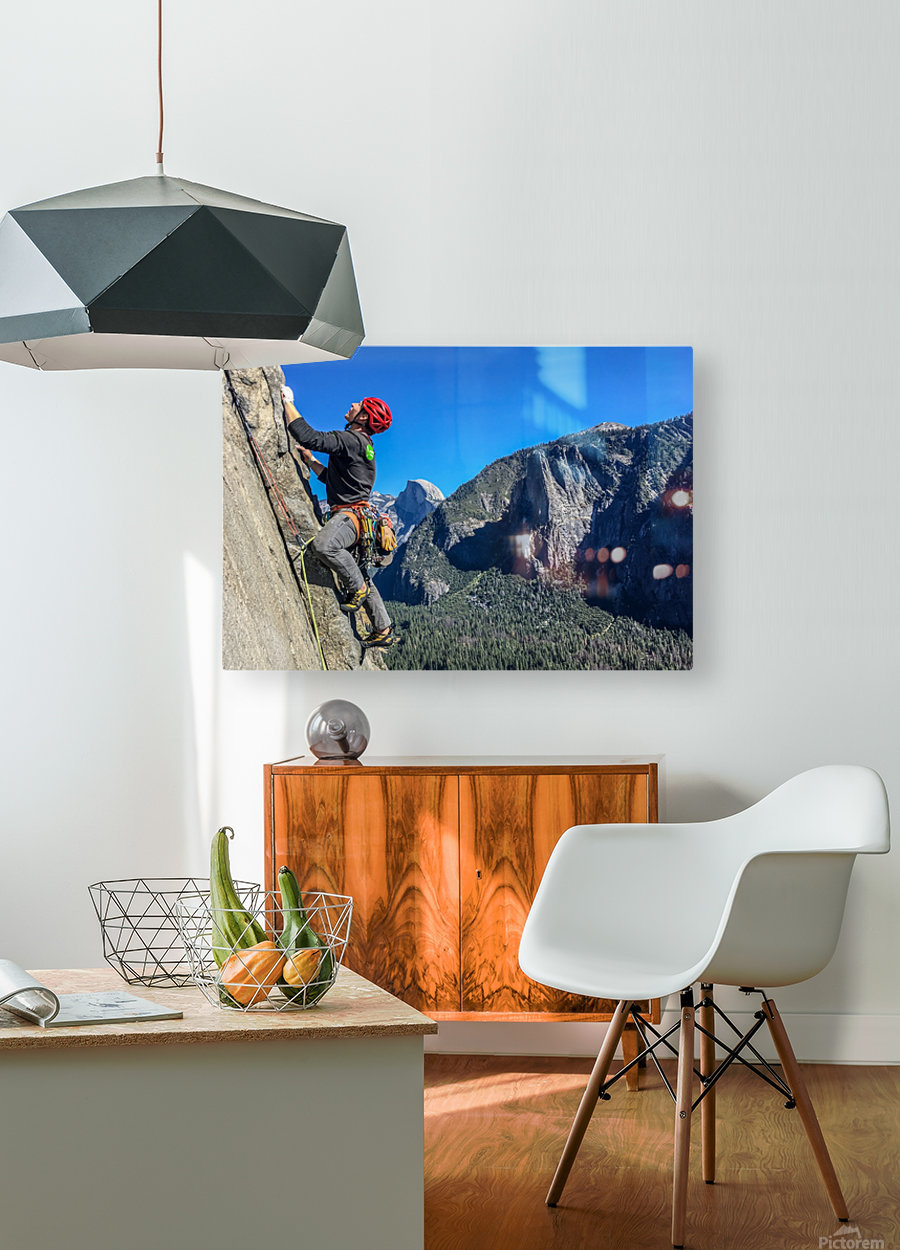 Climber on El Capitan  HD Metal print with Floating Frame on Back