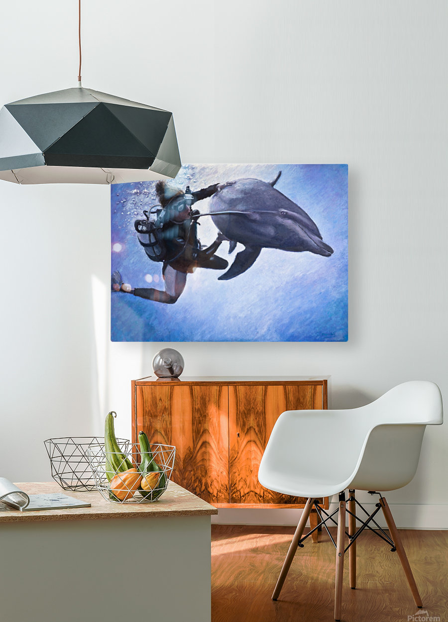 La rencontre d Ariane   HD Metal print with Floating Frame on Back