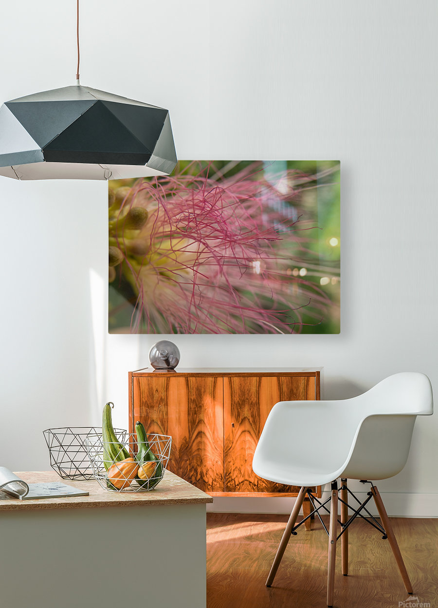 Pink Tangles  HD Metal print with Floating Frame on Back