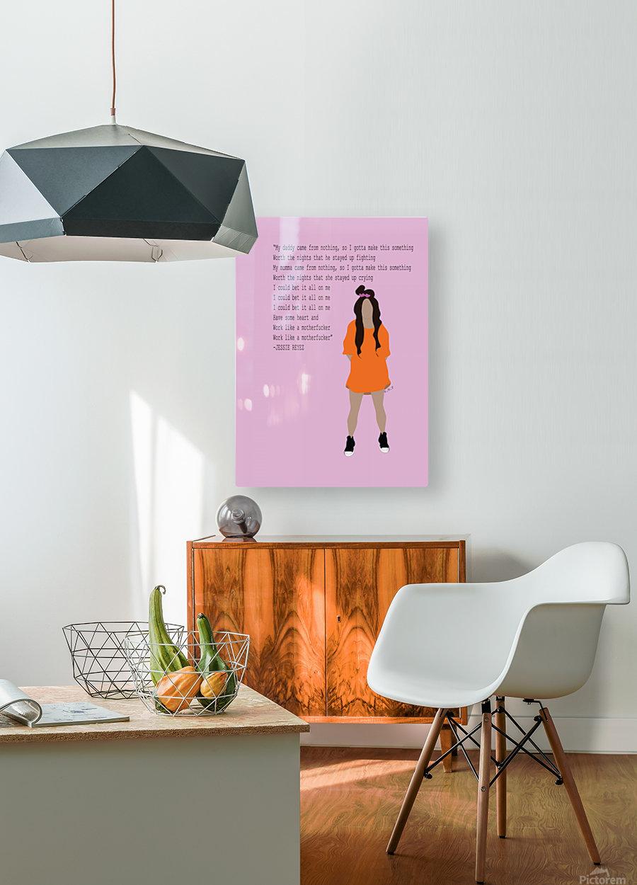Jessie Reyez  HD Metal print with Floating Frame on Back