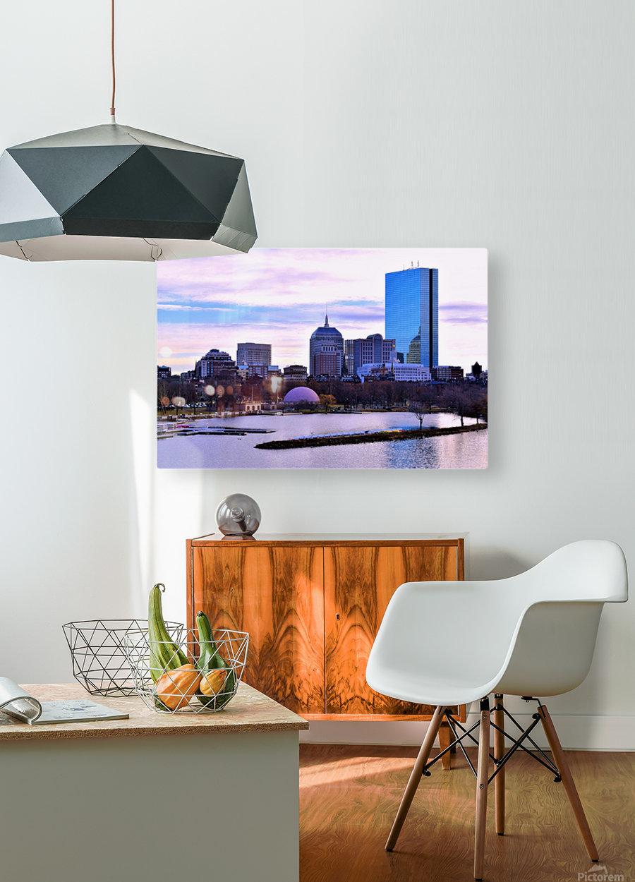 12.5.18 Skyline Boston  HD Metal print with Floating Frame on Back