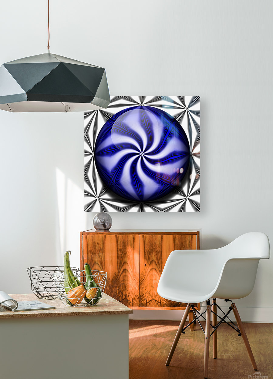 Twisted Mint  HD Metal print with Floating Frame on Back