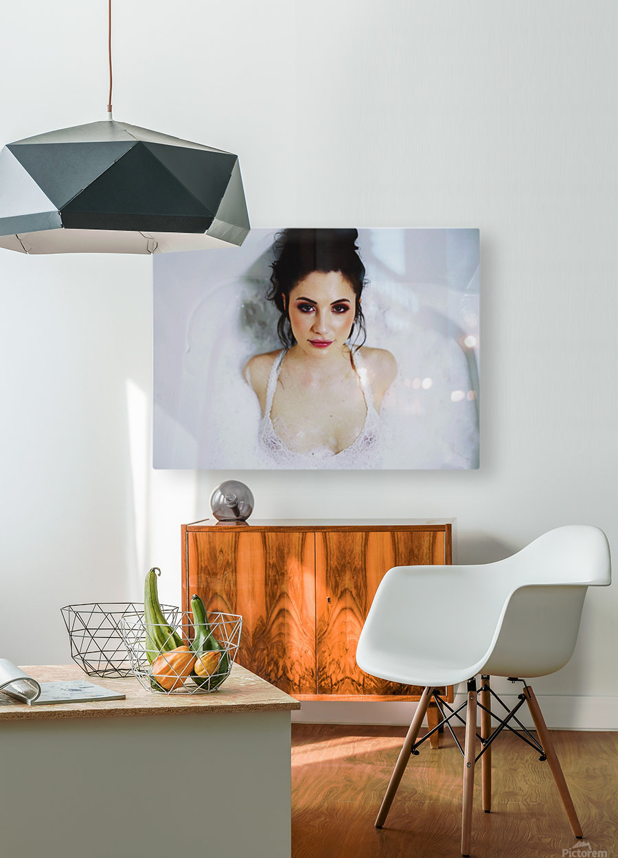 Raw  HD Metal print with Floating Frame on Back