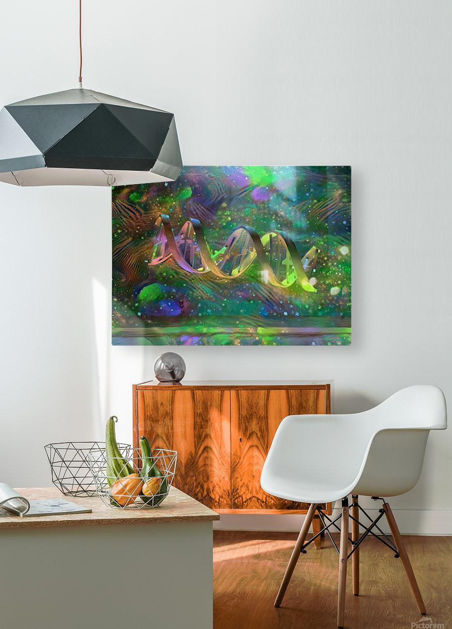 DNA Strand Artwork  HD Metal print with Floating Frame on Back