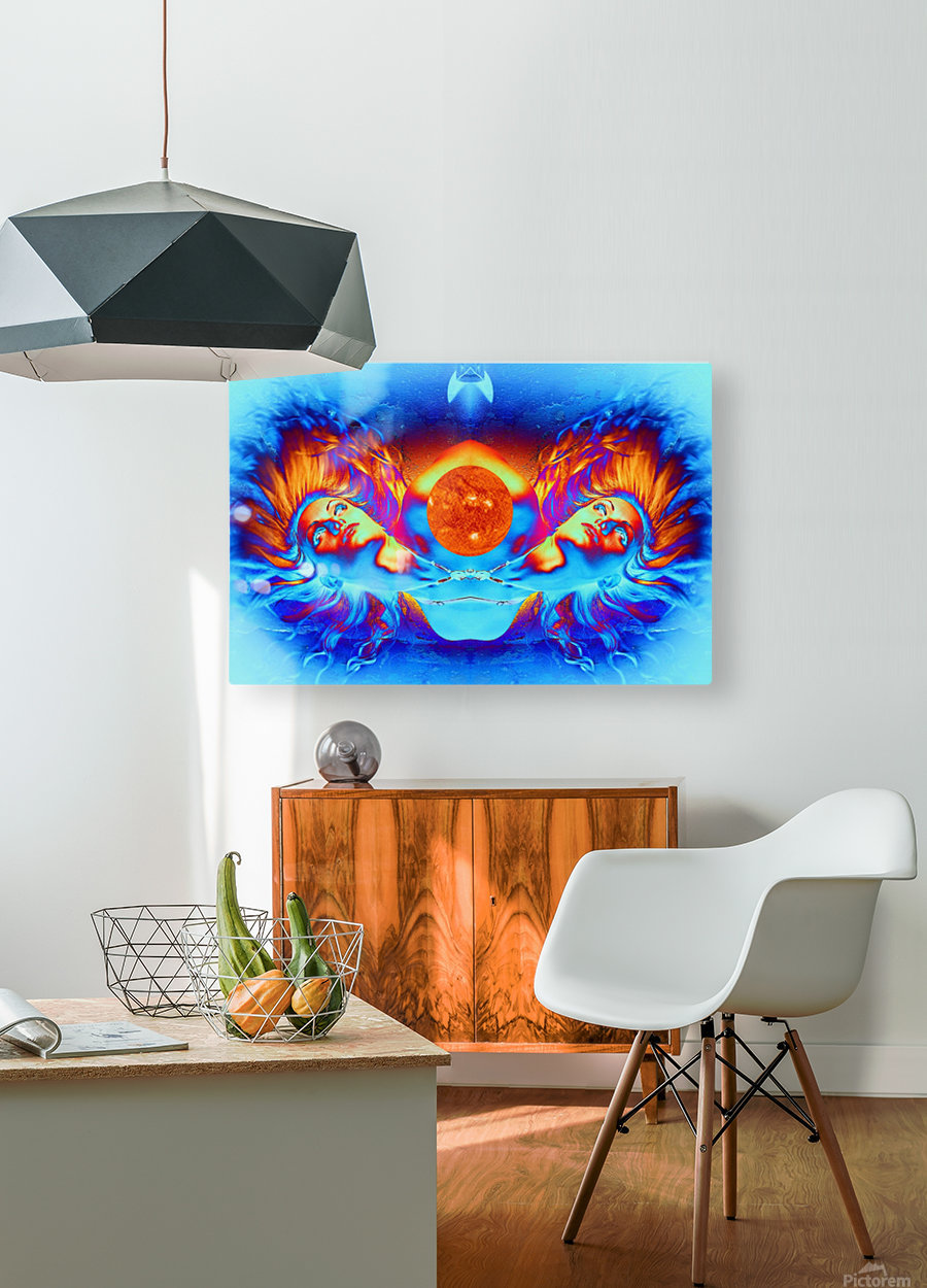 Escape from the Sun  HD Metal print with Floating Frame on Back