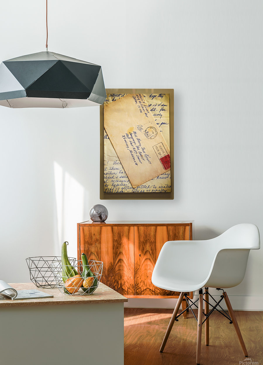Old Letters  HD Metal print with Floating Frame on Back