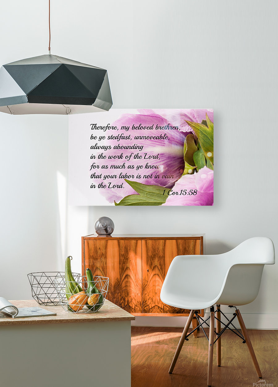 Be ye stedfast  HD Metal print with Floating Frame on Back