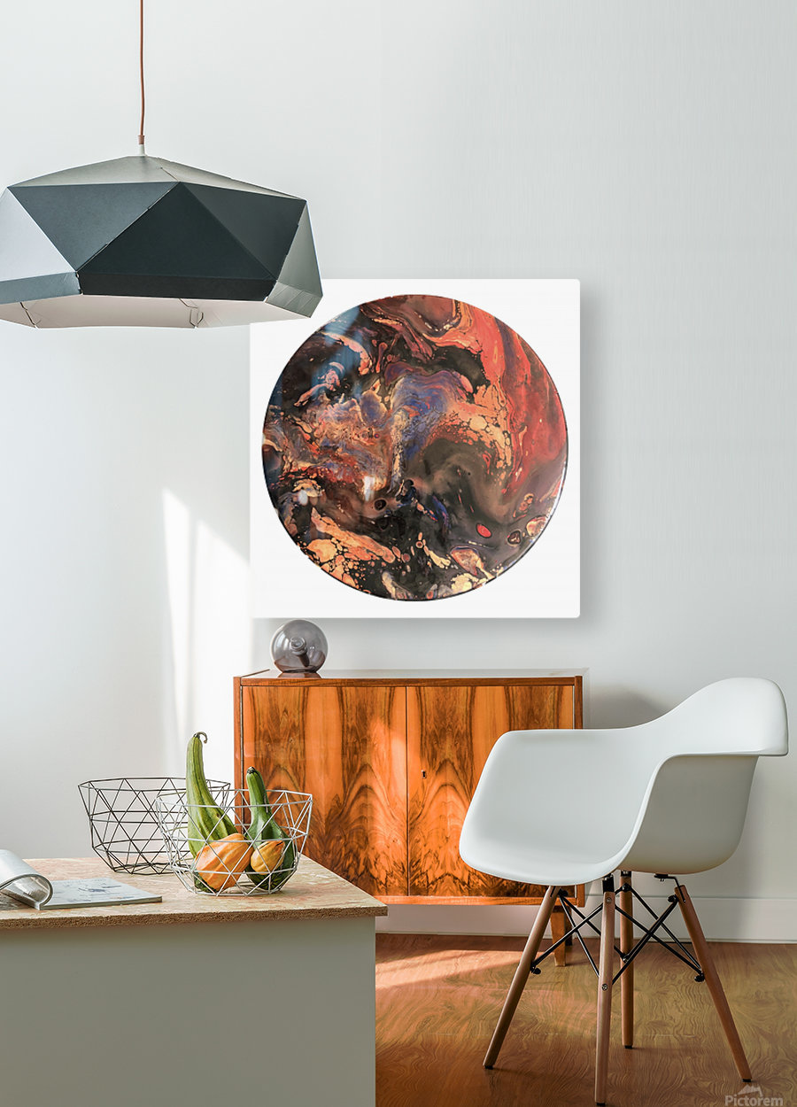 Lava  HD Metal print with Floating Frame on Back
