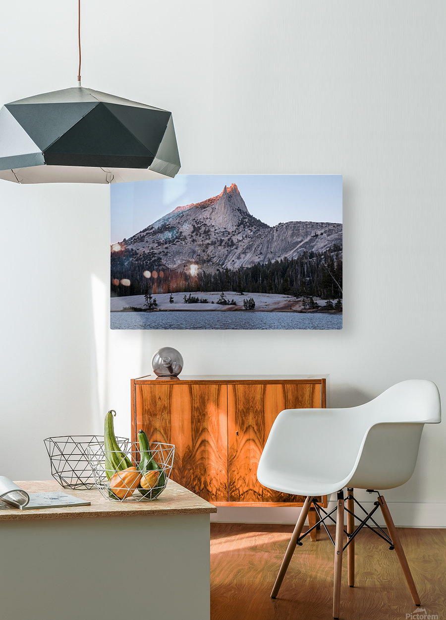 Cathedral Peak Yosemite National Park  HD Metal print with Floating Frame on Back