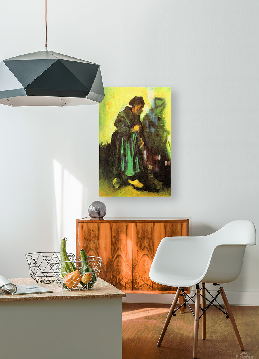 Return of the farmer by Van Gogh  HD Metal print with Floating Frame on Back