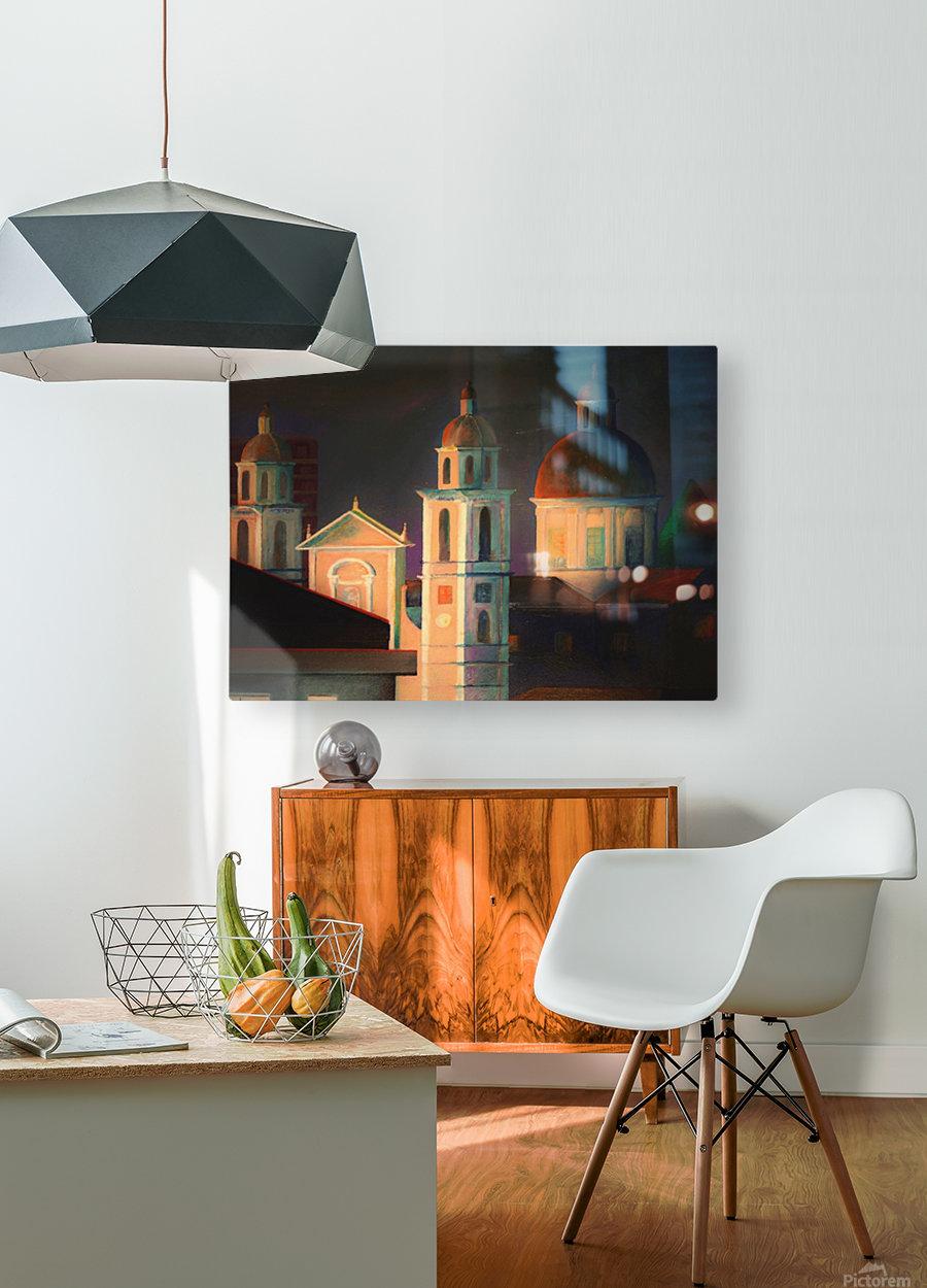 la basilica a Lavagna  HD Metal print with Floating Frame on Back
