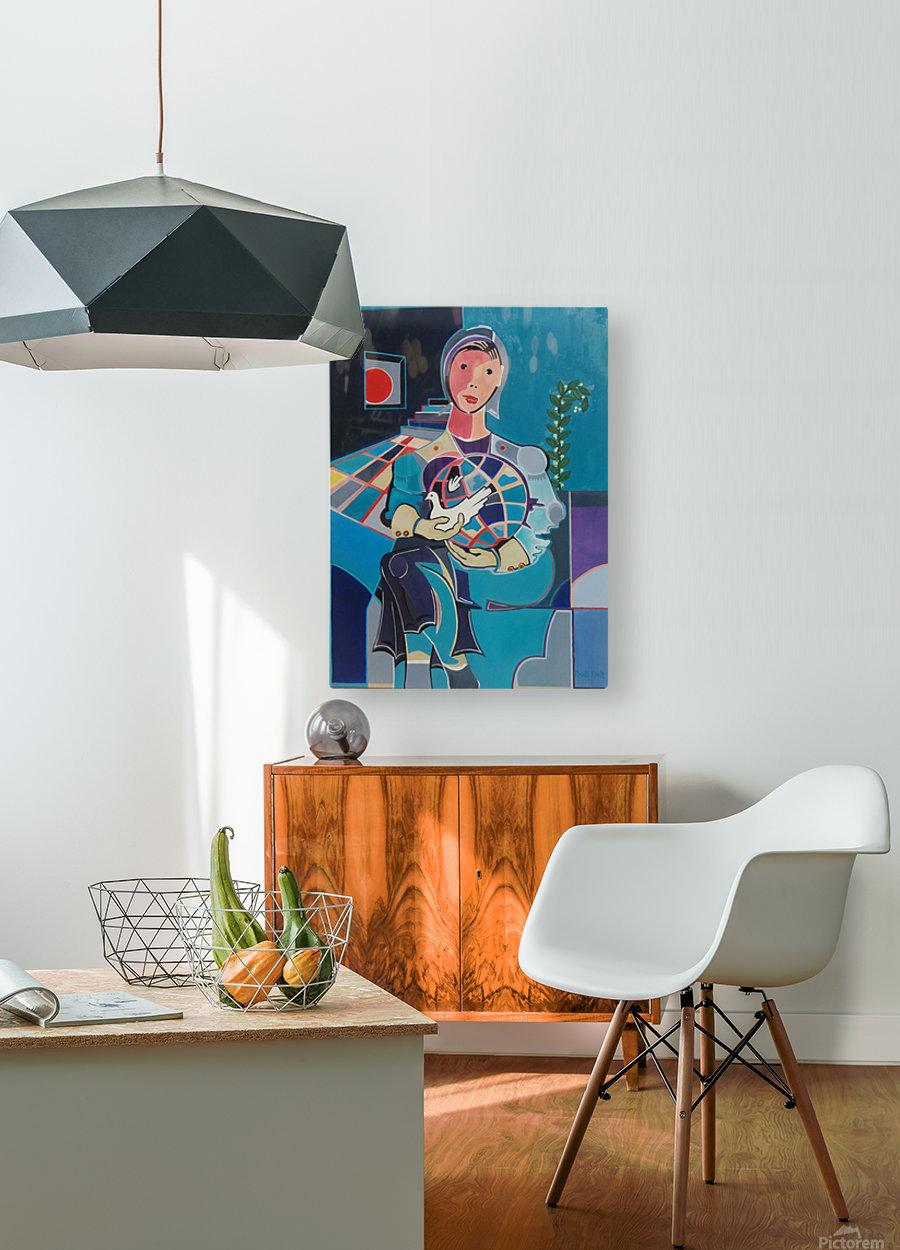 Sentinelle de la Paix  HD Metal print with Floating Frame on Back