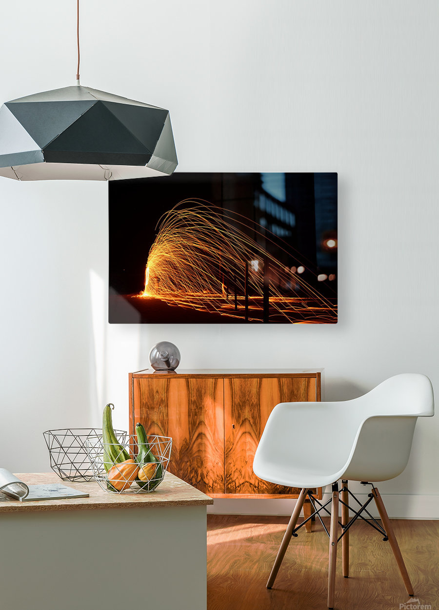 Majestic Flames  HD Metal print with Floating Frame on Back