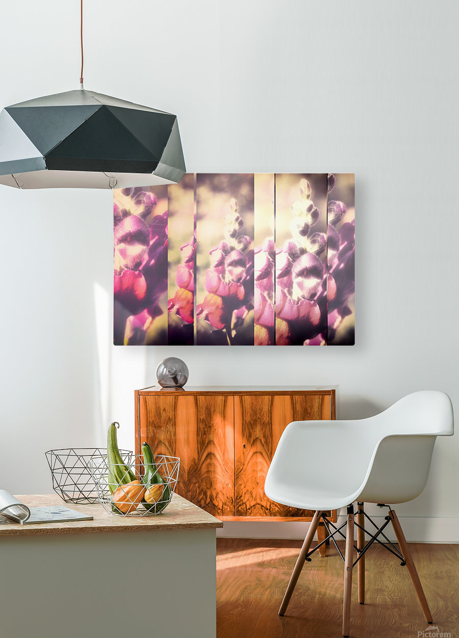 Lupine Fuchsia Collage  HD Metal print with Floating Frame on Back