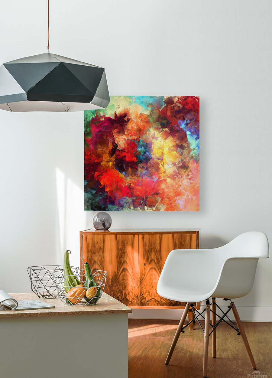 Whirling of Roses  HD Metal print with Floating Frame on Back