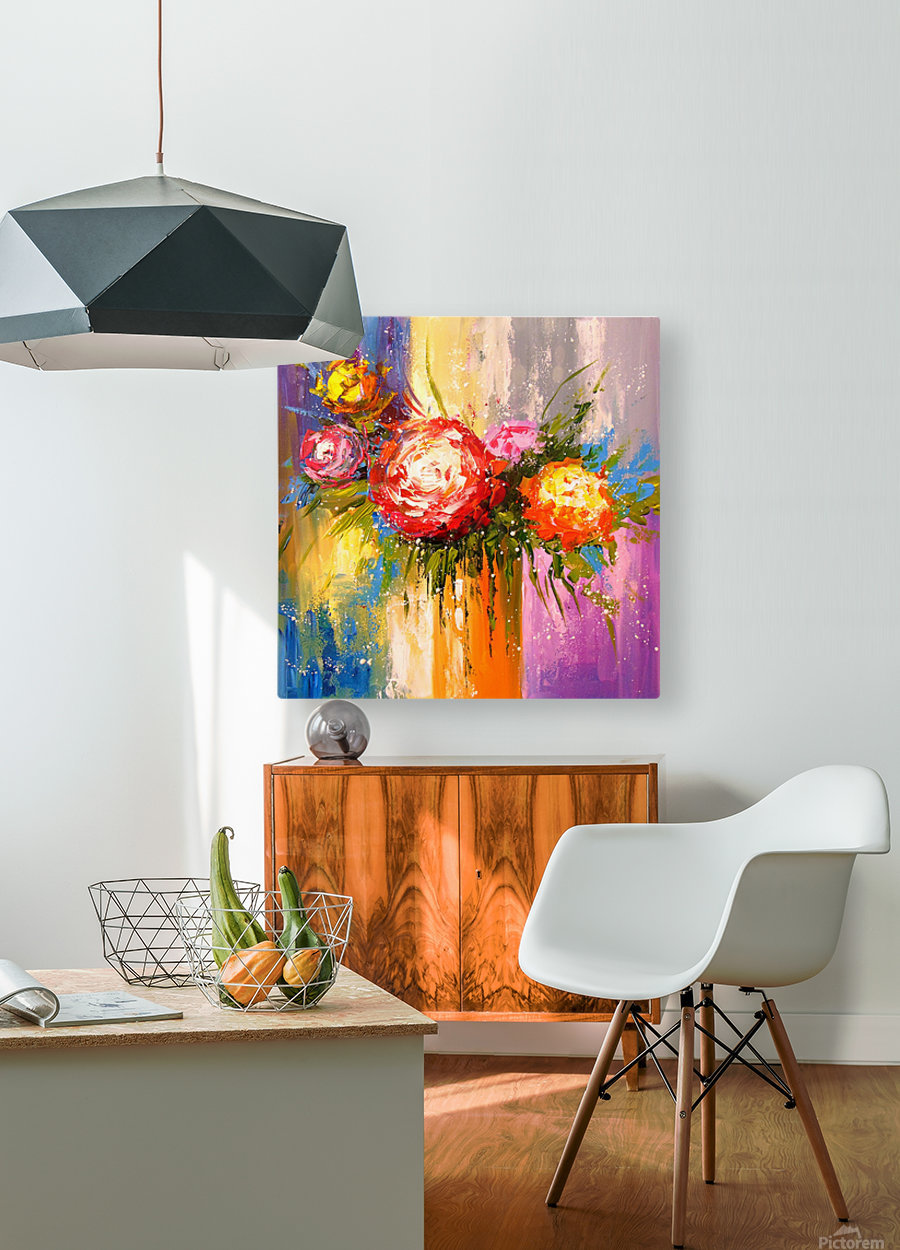 Bouquet of flowers  HD Metal print with Floating Frame on Back