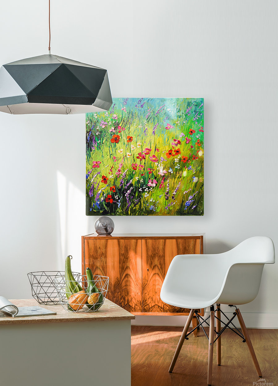 Meadow flowers  HD Metal print with Floating Frame on Back