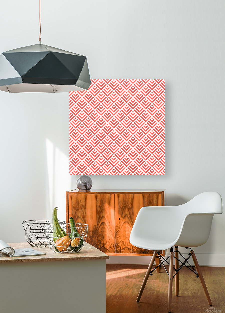 Living Coral Pattern I  HD Metal print with Floating Frame on Back