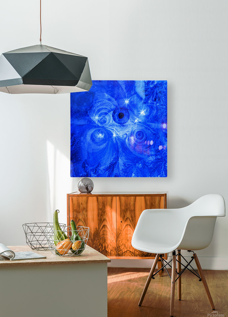 Eye and Stars  HD Metal print with Floating Frame on Back