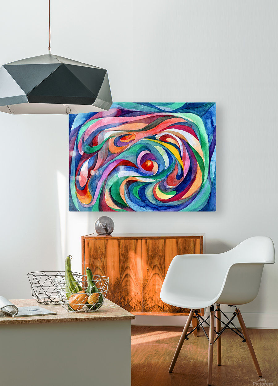 Abstract underwater world  HD Metal print with Floating Frame on Back
