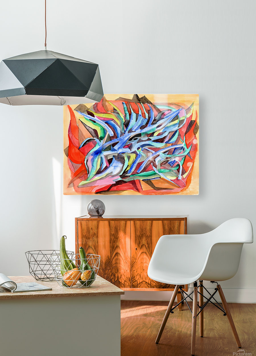 Abstraction Crystals  HD Metal print with Floating Frame on Back