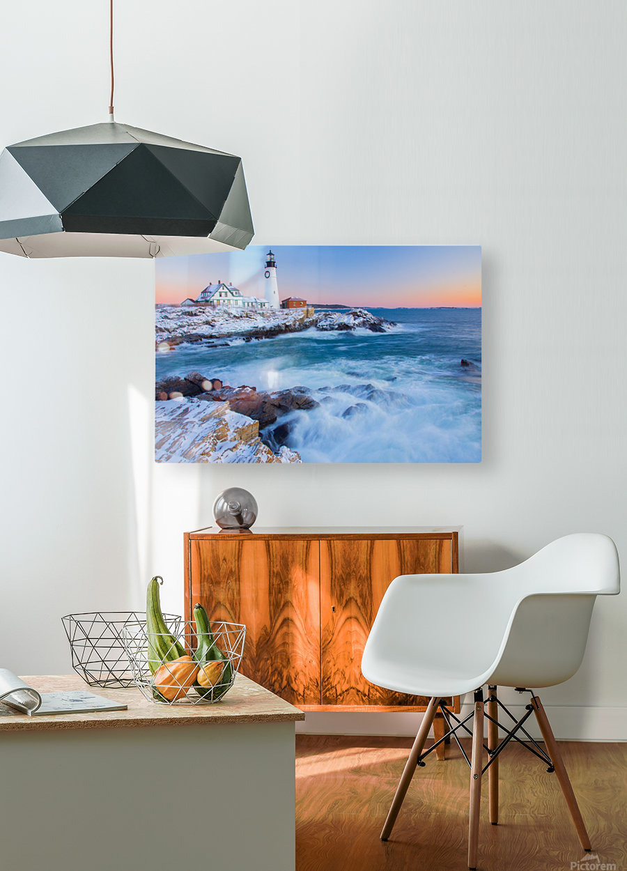 Beacon Dawn  HD Metal print with Floating Frame on Back
