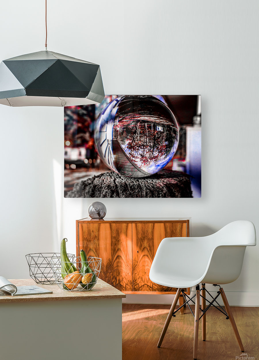 Through the ball  HD Metal print with Floating Frame on Back