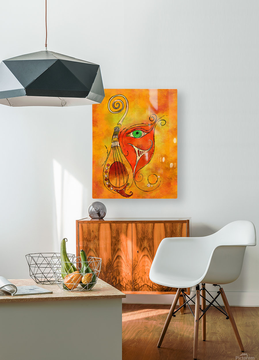 Masquerevue - beauty behind the instrumental mask  HD Metal print with Floating Frame on Back