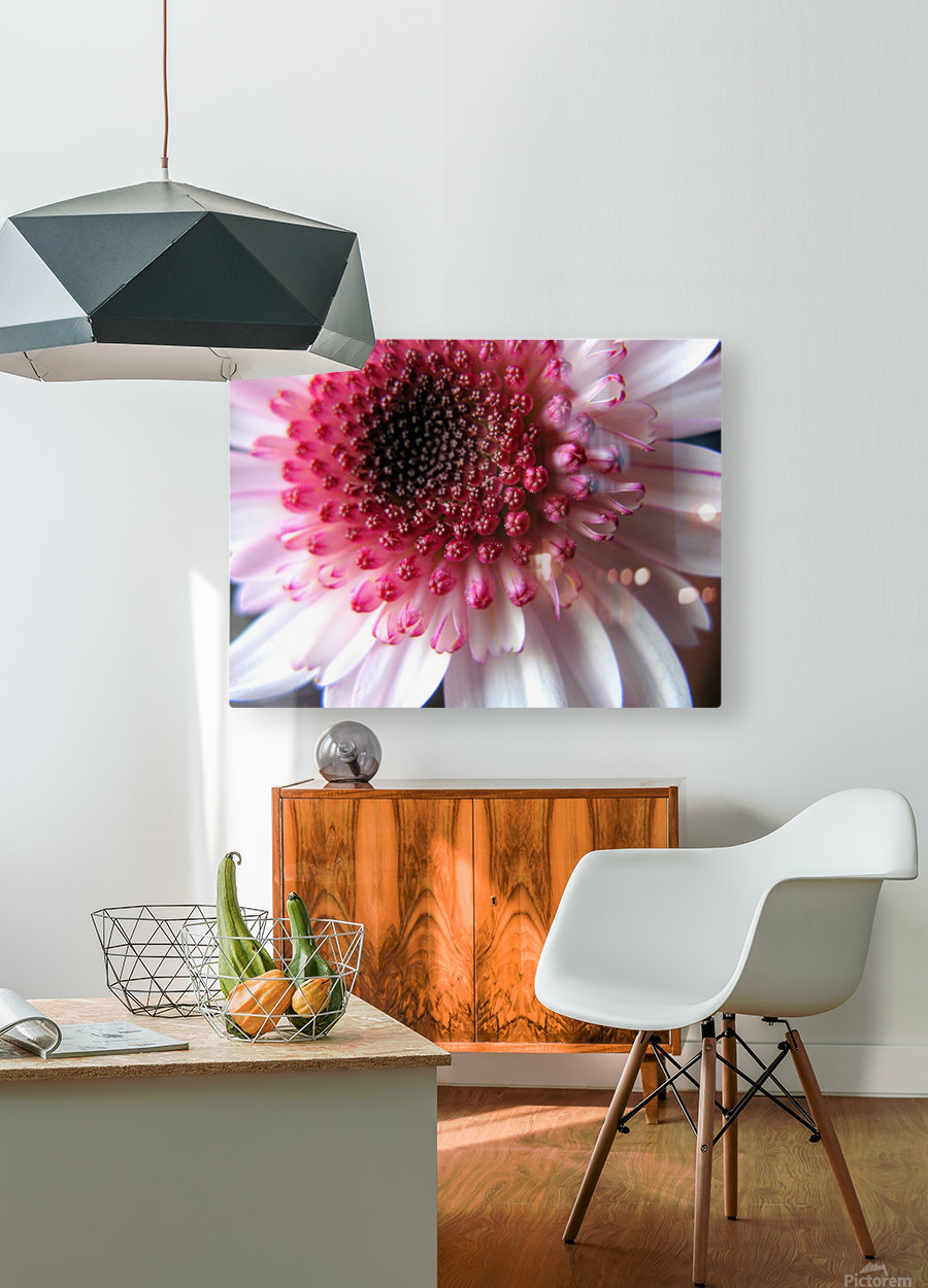 Floral Delicacy  HD Metal print with Floating Frame on Back