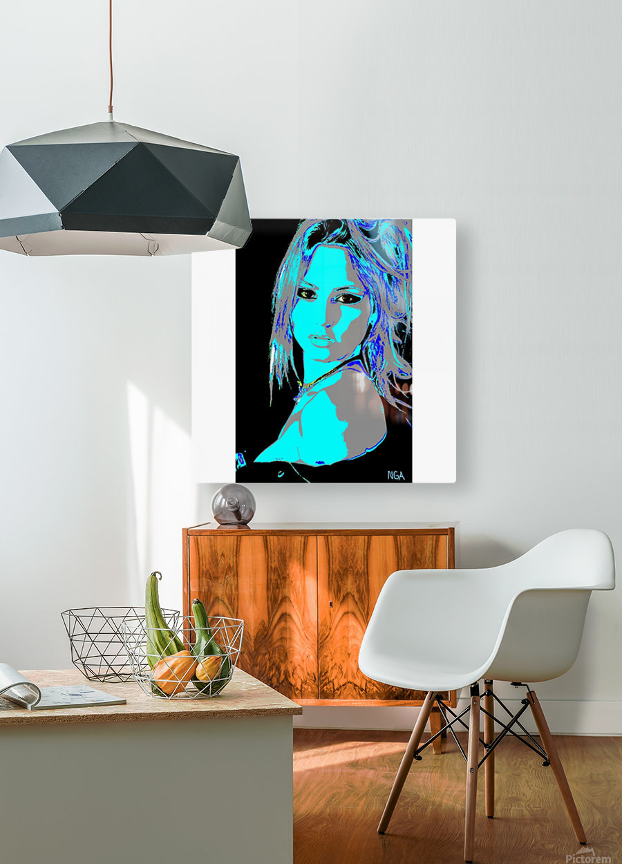 A Pretty Girl by neil gairn adams   HD Metal print with Floating Frame on Back