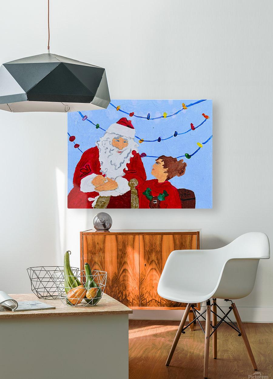 Christmas Eve. David K  HD Metal print with Floating Frame on Back