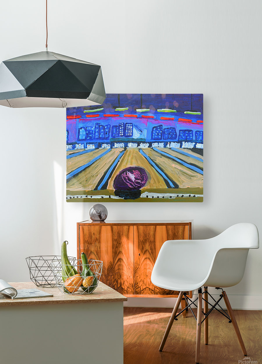 Bowling Alley. David K  HD Metal print with Floating Frame on Back
