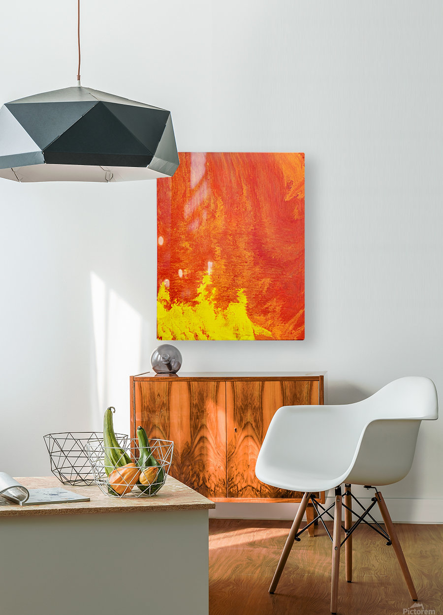 Fire in the Sky. Tala S  HD Metal print with Floating Frame on Back