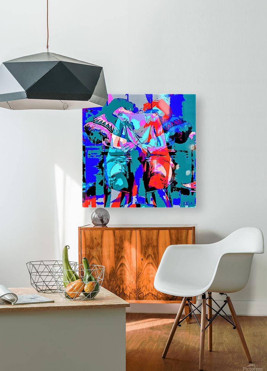Best Friends - by Neil Gairn Adams  HD Metal print with Floating Frame on Back