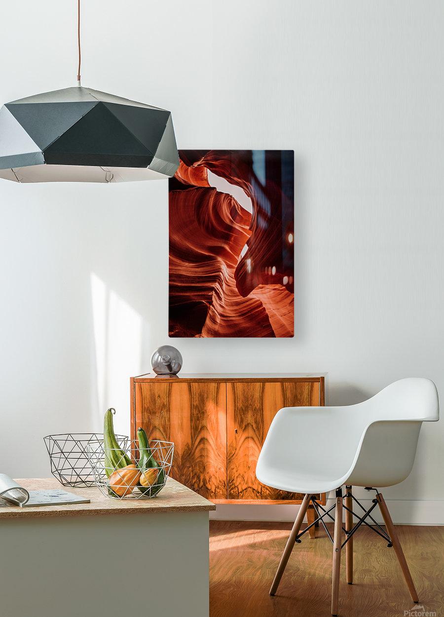 Antelope Canyon  Impression métal HD avec cadre flottant sur le dos