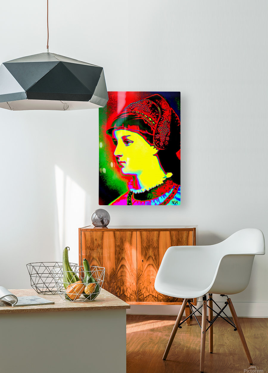 The Lady - by Neil Gairn Adams  HD Metal print with Floating Frame on Back
