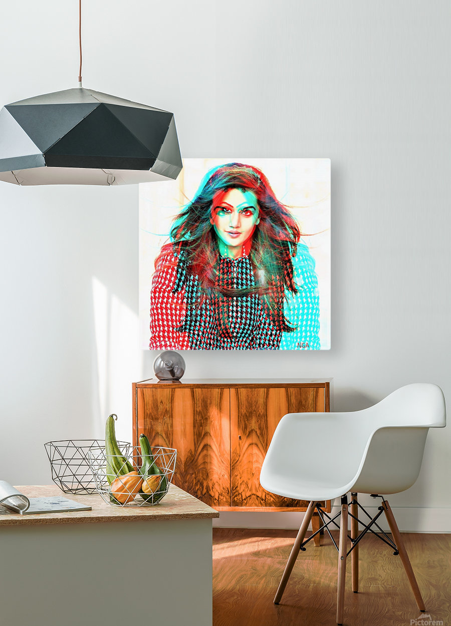 The Model -  by Neil Gairn Adams   HD Metal print with Floating Frame on Back