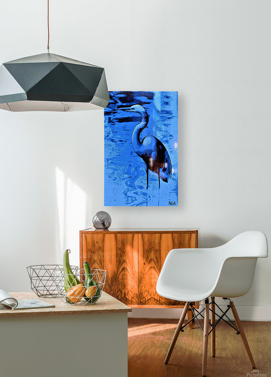 Bird in the Water -  by Neil Gairn Adams  HD Metal print with Floating Frame on Back