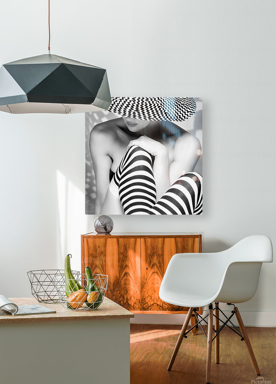Zagging that Zig  HD Metal print with Floating Frame on Back