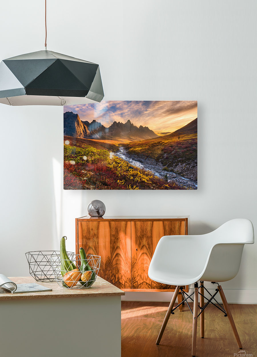 Mountain Paradise  HD Metal print with Floating Frame on Back